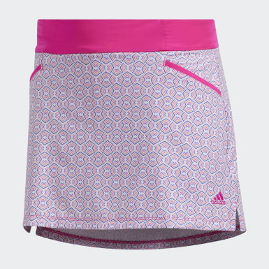 Girls Golf Pink Printed Skort