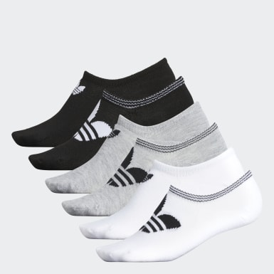 Women's Originals White Trefoil No-Show Socks 6 Pairs