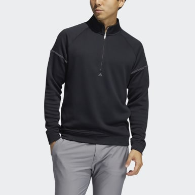 Männer Golf Equipment Quarter-Zip Sweatshirt Schwarz