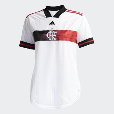 Camisa CR Flamengo 2 Branco Mulher Futebol