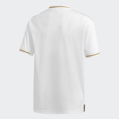 Camisola Principal do Real Madrid Branco Rapazes Futebol