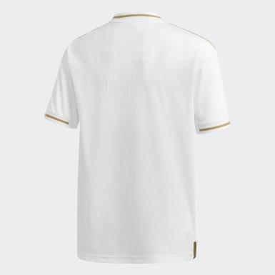 Boys Fodbold Hvid Real Madrid hjemmebanetrøje