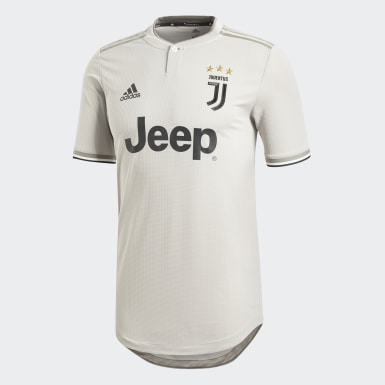 Men Football Beige Juventus Away Authentic Jersey