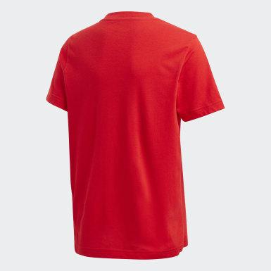 Kluci Trénink červená Tričko Must Haves Badge of Sport