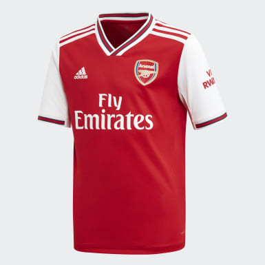 Boys Fotboll Röd Arsenal Home Jersey