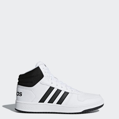 Men's Essentials White Hoops 2.0 Mid Shoes