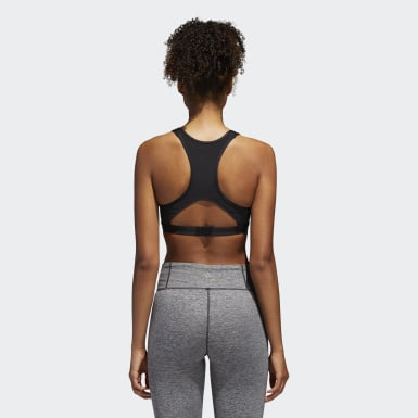 Women's Running Black Racer Bra