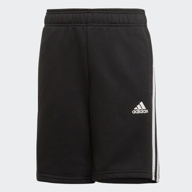 Boys Yoga Black Must Haves 3-Stripes Shorts