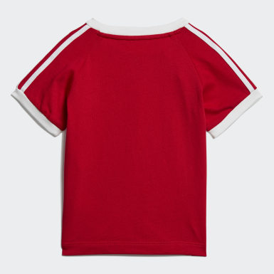 Kids Originals Red 3-Stripes Tee