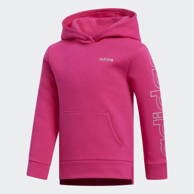Children Training Pink Fleece Hoodie