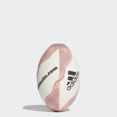 Piłka New Zealand Rugby Mini Bialy