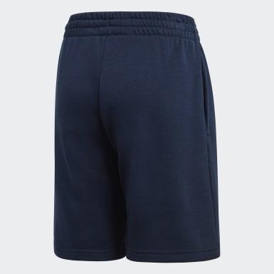 Boys Training Blue Essentials Logo Shorts