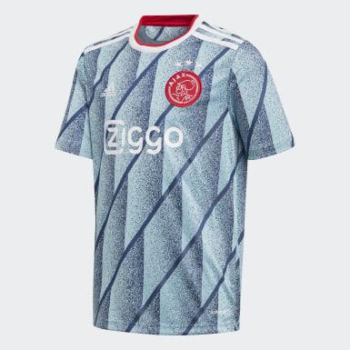 Camisola Alternativa do Ajax Amsterdam Azul Criança Futebol