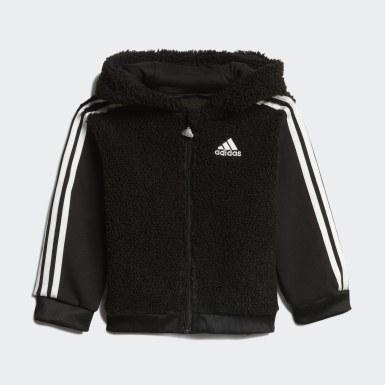 Tuta Fur Full-Zip Hooded Nero Bambini Training