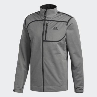 Men Golf Grey Climastorm Ribbed Soft Shell Jacket