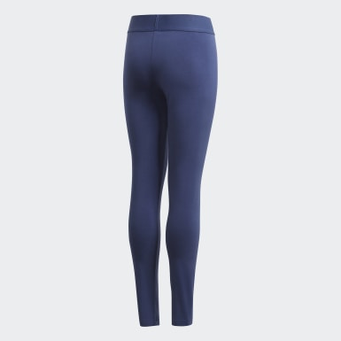 Leggings Badge of Sport Must Haves Azul Raparigas Ioga