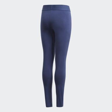 Girls Yoga Blue Must Haves Badge of Sport Leggings