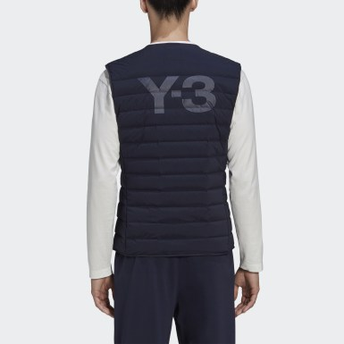 Heren Y-3 Blauw Y-3 Classic Light Down Liner Bodywarmer