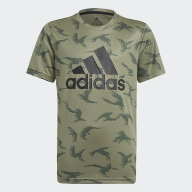 Jongens Athletics Groen adidas Designed To Move Camouflage T-shirt