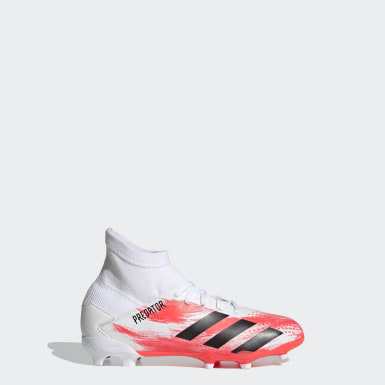 Boys Football White Predator 20.3 Firm Ground Boots