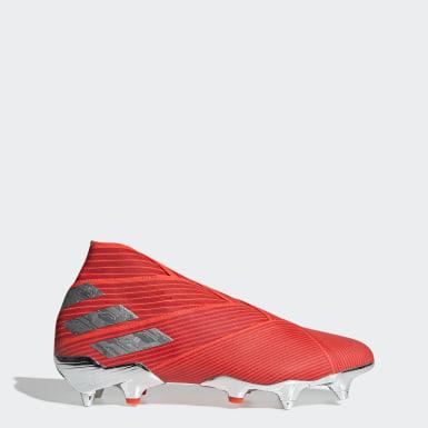 Zapatos de Fútbol Nemeziz 19+ Terreno Suave Rojo Hombre Fútbol