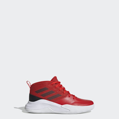 Kids Basketball Red Own the Game Wide Shoes