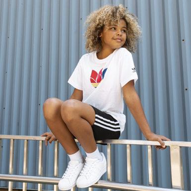 Genç Originals White Adicolor 3D Trefoil Tişört