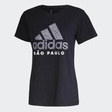 Camiseta Cidade SÃO PAULO Preto Mulher Athletics