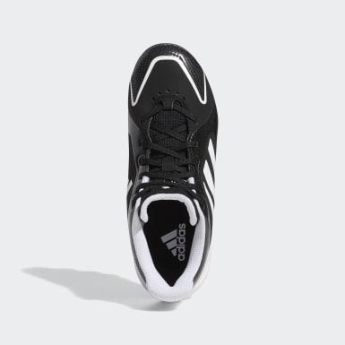 Children Softball Black PureHustle Molded Cleats