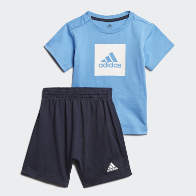 Kinder Training Logo Sommer-Set Blau