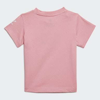 Girls Originals Pink Adicolor 3D Trefoil T-Shirt