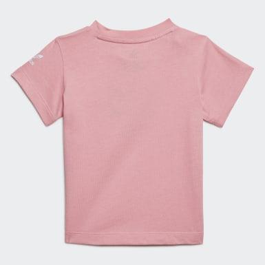Camiseta Adicolor 3D Trifolio Rosa Niño Originals