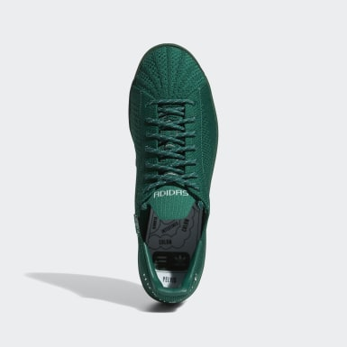 Men Originals Green Pharrell Williams Superstar Primeknit Shoes
