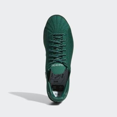 Sapatos Primeknit Superstar Pharrell Williams Verde Originals