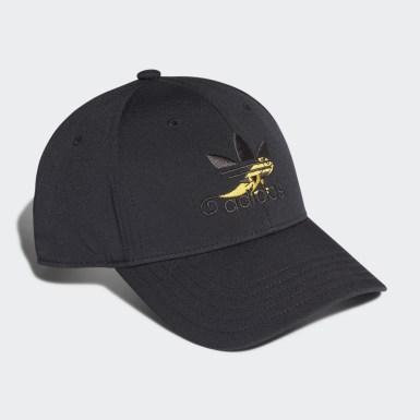 ผู้ชาย Originals สีดำ หมวกเบสบอลพิมพ์ลาย Premium Essentials