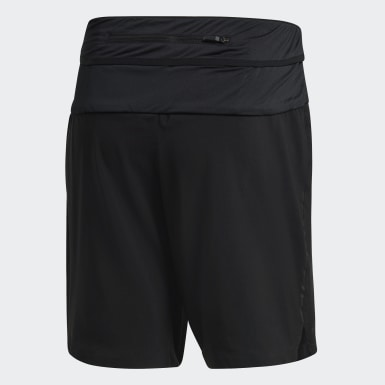 Men TERREX Black Parley Agravic Trail Shorts