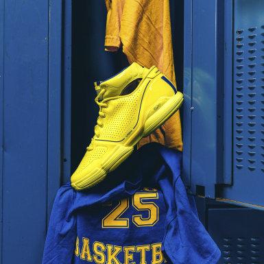 Men Basketball Yellow Adizero Rose 1 Wolverines Shoes