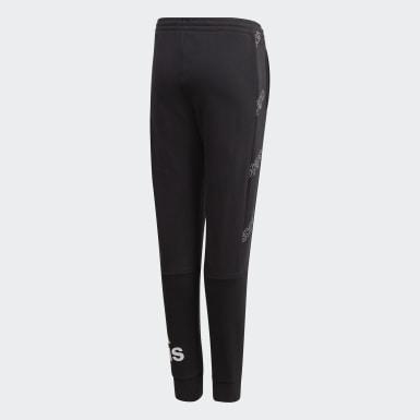 Pantaloni Classics Allover Print Nero Ragazzo Athletics