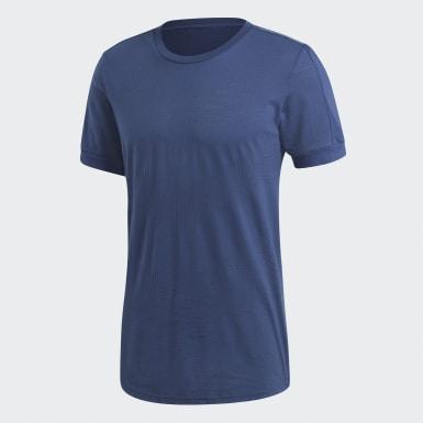 Men Athletics Blue ID Chevron Tee