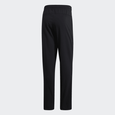 Heren Training Zwart Essentials Plain Open Hem Stanford Broek