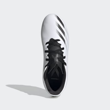 Boys Football White X Ghosted.4 Flexible Ground Boots