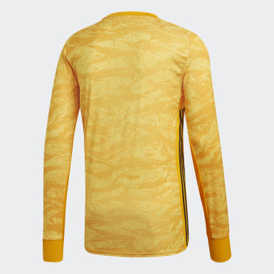Men Football Yellow AdiPro 18 Goalkeeper Jersey