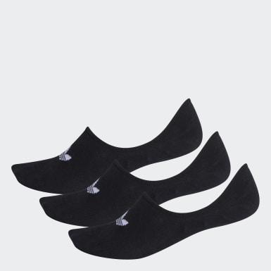 Originals สีดำ ถุงเท้าซ่อนขอบ (3 คู่)