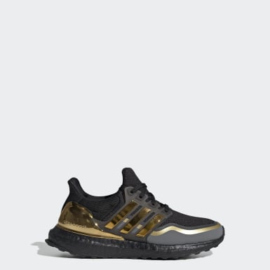 Youth Running Black Ultraboost Metallic Shoes