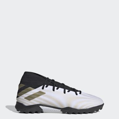 Men's Soccer White Nemeziz .3 Turf Cleats