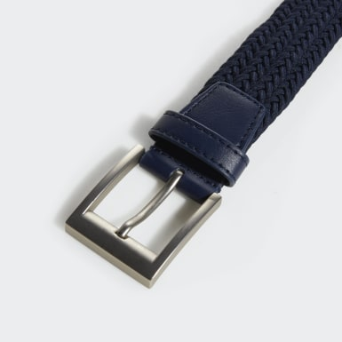 Men Golf Blue Braided Stretch Belt