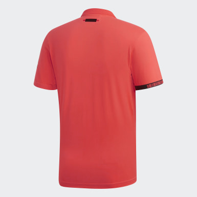 Men Tennis Red MatchCode Polo Shirt