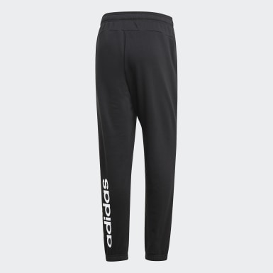 Muži Athletics černá Kalhoty Essentials Linear Tapered