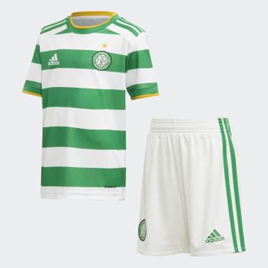 Kinder Fußball Celtic FC 20/21 Mini-Heimausrüstung Weiß