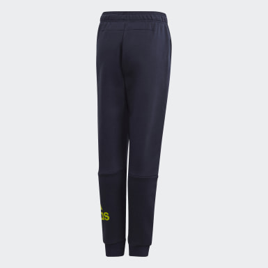 Pantalon Must Haves Badge of Sport Fleece Bleu Garçons Training